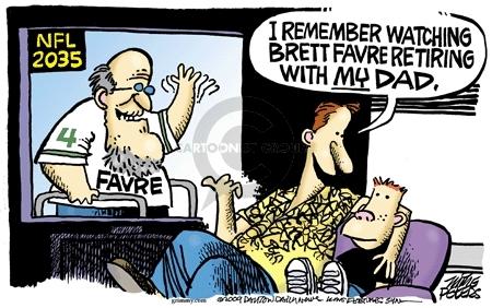 Cartoonist Mike Peters  Mike Peters' Editorial Cartoons 2009-08-24 retirement