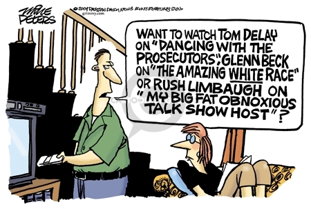 Mike Peters  Mike Peters' Editorial Cartoons 2009-08-26 television news