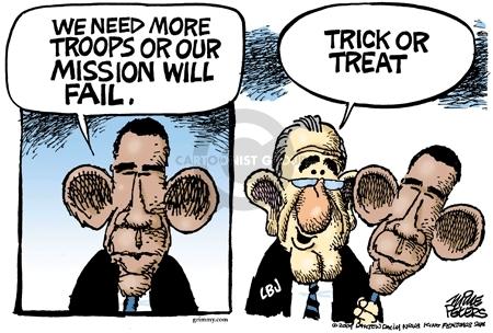 Cartoonist Mike Peters  Mike Peters' Editorial Cartoons 2009-10-07 Afghanistan
