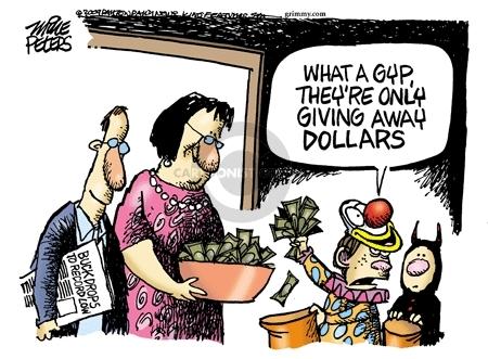 Cartoonist Mike Peters  Mike Peters' Editorial Cartoons 2009-10-15 money