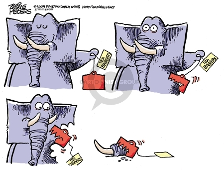 Cartoonist Mike Peters  Mike Peters' Editorial Cartoons 2009-10-22 political party