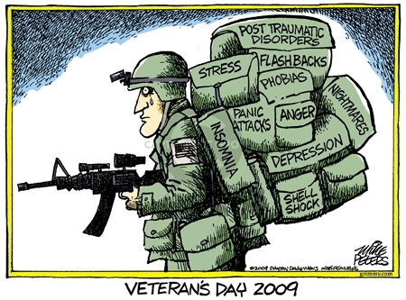 Cartoonist Mike Peters  Mike Peters' Editorial Cartoons 2009-11-06 military mental health