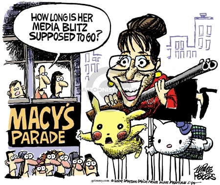 Cartoonist Mike Peters  Mike Peters' Editorial Cartoons 2009-11-17 Sarah Palin