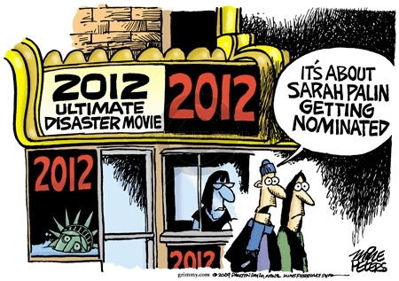 2012 Ultimate Disaster Movie.  Its about Sarah Palin getting nominated.