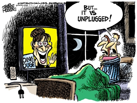Cartoonist Mike Peters  Mike Peters' Editorial Cartoons 2009-11-27 Sarah Palin