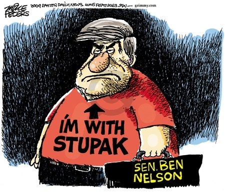 Cartoonist Mike Peters  Mike Peters' Editorial Cartoons 2009-12-04 health insurance