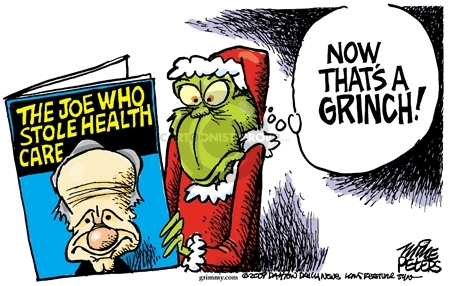 Cartoonist Mike Peters  Mike Peters' Editorial Cartoons 2009-12-15 health care reform
