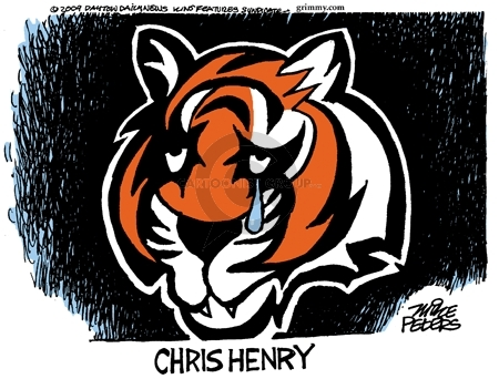 Mike Peters  Mike Peters' Editorial Cartoons 2009-12-17 football player