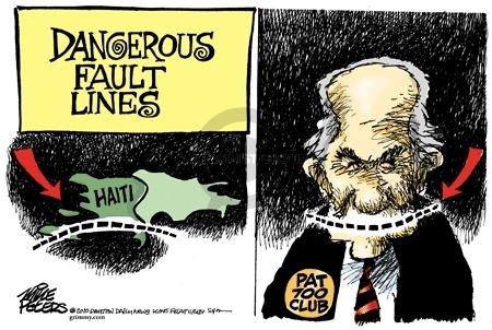 Cartoonist Mike Peters  Mike Peters' Editorial Cartoons 2010-01-14 fault