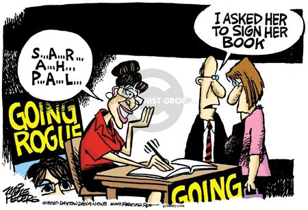 Cartoonist Mike Peters  Mike Peters' Editorial Cartoons 2010-02-09 Sarah Palin