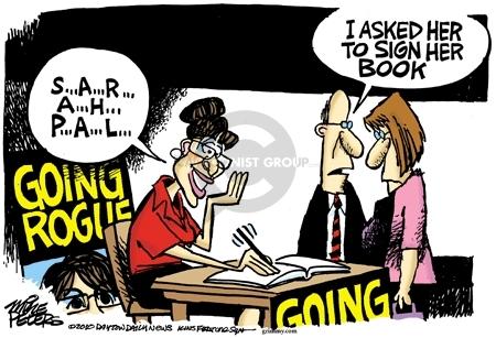 Cartoonist Mike Peters  Mike Peters' Editorial Cartoons 2010-02-09 book