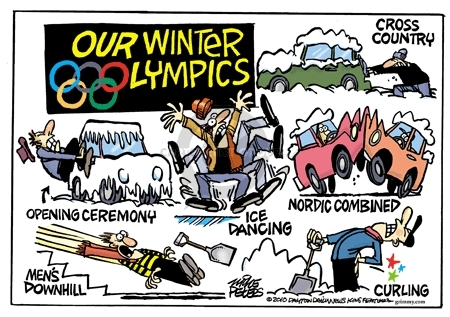 Our Winter Olympics.  Cross country.  Opening ceremony.  Ice dancing.  Nordic combined.  Mens downhill.  Curling.