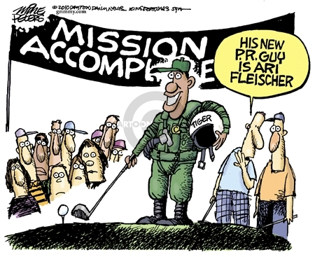 Cartoonist Mike Peters  Mike Peters' Editorial Cartoons 2010-03-12 George W. Bush