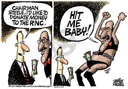 Cartoonist Mike Peters  Mike Peters' Editorial Cartoons 2010-03-30 Michael Steele
