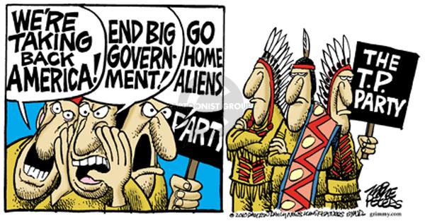 Cartoonist Mike Peters  Mike Peters' Editorial Cartoons 2010-04-23 immigrant