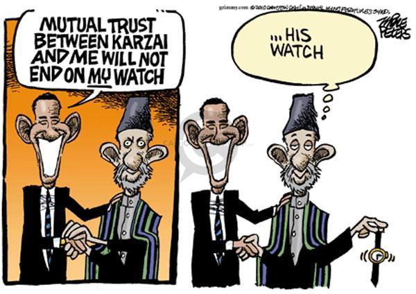 Cartoonist Mike Peters  Mike Peters' Editorial Cartoons 2010-05-14 Afghanistan