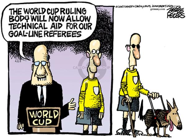 The World Cup ruling body will now allow technical aid for our goal-line referees. World Cup.