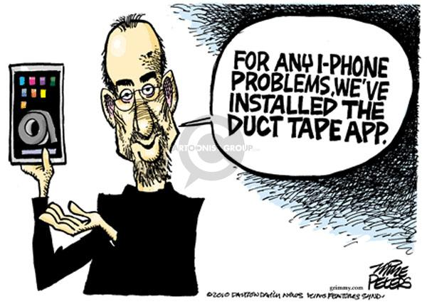 Cartoonist Mike Peters  Mike Peters' Editorial Cartoons 2010-07-14 cell phone