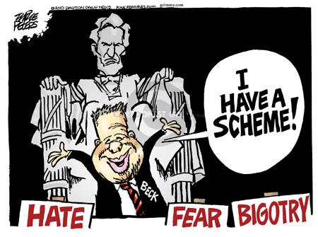 Cartoonist Mike Peters  Mike Peters' Editorial Cartoons 2010-08-27 fear