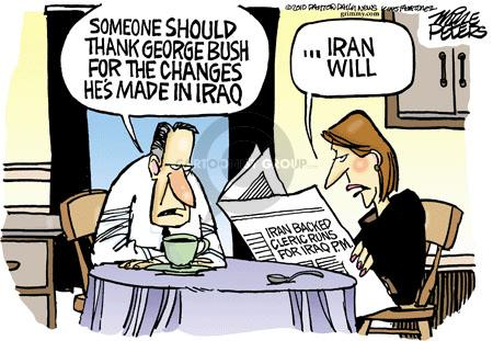 Cartoonist Mike Peters  Mike Peters' Editorial Cartoons 2010-09-03 election