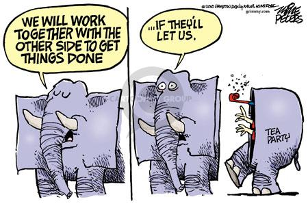 We will work together with the other side to get things done … if theyll let us.  Tea Party.