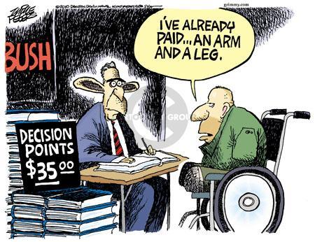 Cartoonist Mike Peters  Mike Peters' Editorial Cartoons 2010-11-09 Bush legacy
