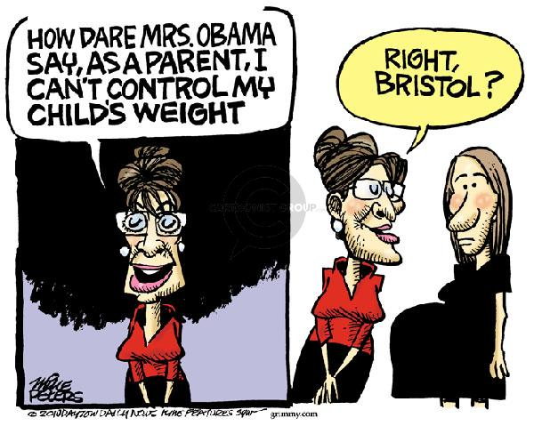 Cartoonist Mike Peters  Mike Peters' Editorial Cartoons 2011-01-01 Sarah Palin