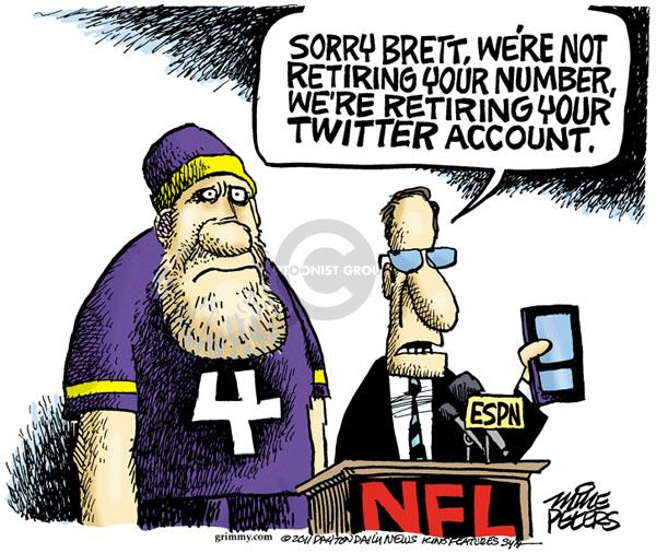 Mike Peters  Mike Peters' Editorial Cartoons 2011-01-04 football player