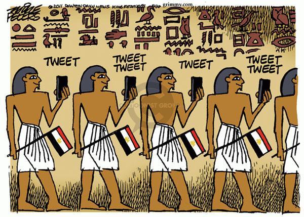 Cartoonist Mike Peters  Mike Peters' Editorial Cartoons 2011-02-11 social