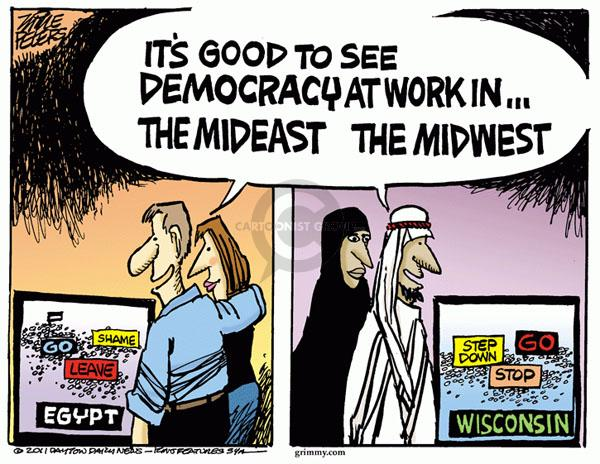 Cartoonist Mike Peters  Mike Peters' Editorial Cartoons 2011-02-18 union