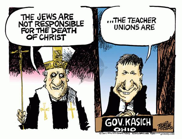 Mike Peters  Mike Peters' Editorial Cartoons 2011-03-05 Jew