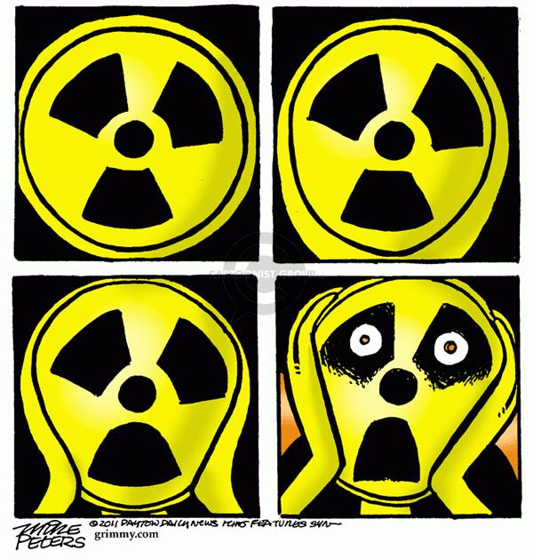 Cartoonist Mike Peters  Mike Peters' Editorial Cartoons 2011-03-17 fear