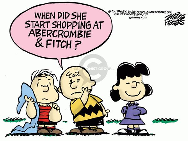Cartoonist Mike Peters  Mike Peters' Editorial Cartoons 2011-03-31 clothes shopping