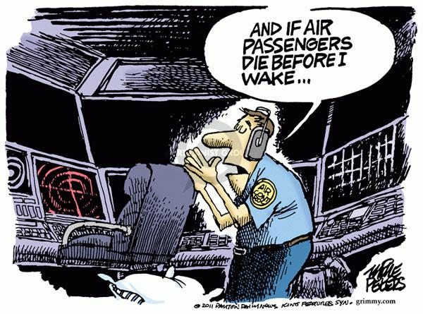 Cartoonist Mike Peters  Mike Peters' Editorial Cartoons 2011-04-15 airplane