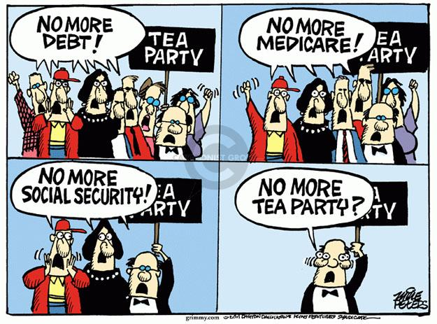 Cartoonist Mike Peters  Mike Peters' Editorial Cartoons 2011-04-22 political party