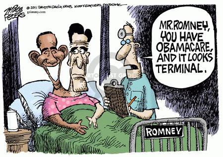 Cartoonist Mike Peters  Mike Peters' Editorial Cartoons 2011-05-13 health care reform