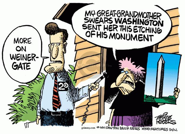 Cartoonist Mike Peters  Mike Peters' Editorial Cartoons 2011-06-07 monument