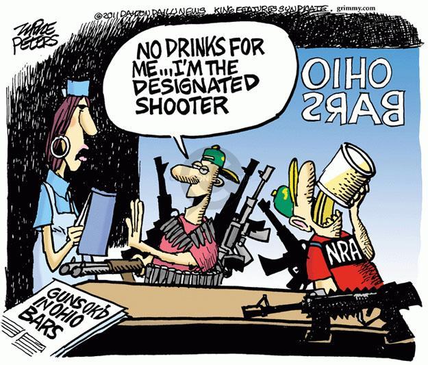 Cartoonist Mike Peters  Mike Peters' Editorial Cartoons 2011-06-21 second amendment