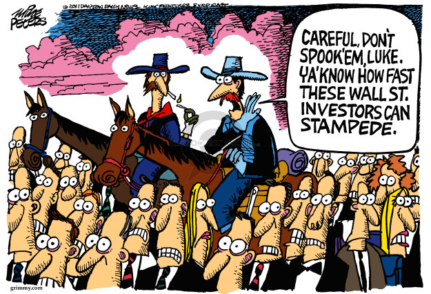 Cartoonist Mike Peters  Mike Peters' Editorial Cartoons 2011-08-08 cowboy