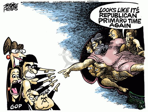 Cartoonist Mike Peters  Mike Peters' Editorial Cartoons 2011-08-12 Newt Gingrich