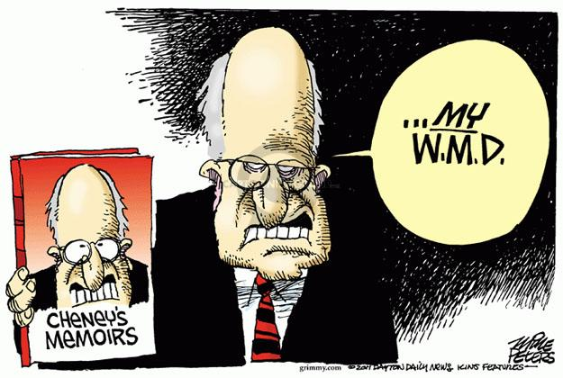 Cartoonist Mike Peters  Mike Peters' Editorial Cartoons 2011-08-25 Dick Cheney