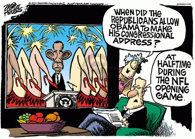 Cartoonist Mike Peters  Mike Peters' Editorial Cartoons 2011-09-01 republican