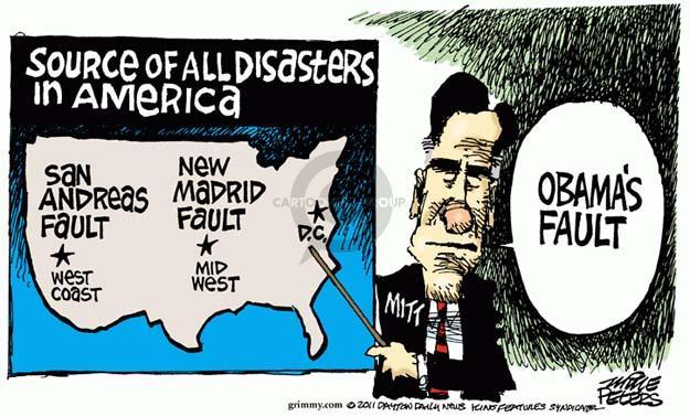 Cartoonist Mike Peters  Mike Peters' Editorial Cartoons 2011-09-07 fault