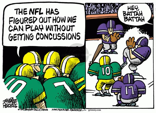 The NFL has figured out how we can play without getting concussions. Hey, battah battah.