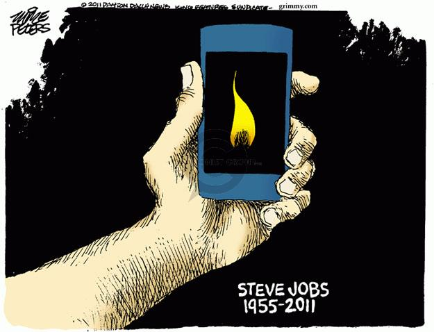 Cartoonist Mike Peters  Mike Peters' Editorial Cartoons 2011-10-06 cell phone
