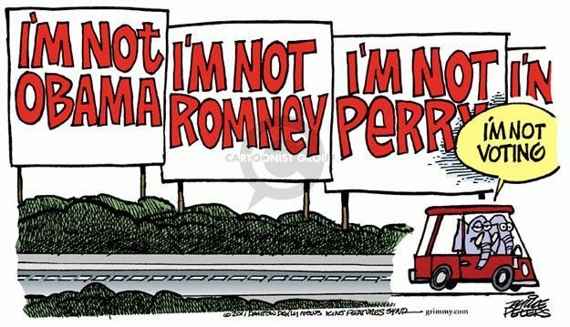 Cartoonist Mike Peters  Mike Peters' Editorial Cartoons 2011-10-07 Rick Perry