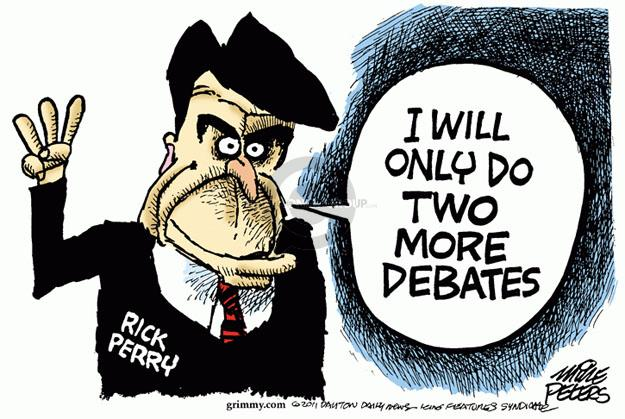 Cartoonist Mike Peters  Mike Peters' Editorial Cartoons 2011-11-10 debate