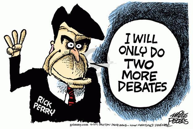 Mike Peters  Mike Peters' Editorial Cartoons 2011-11-10 2012 debate