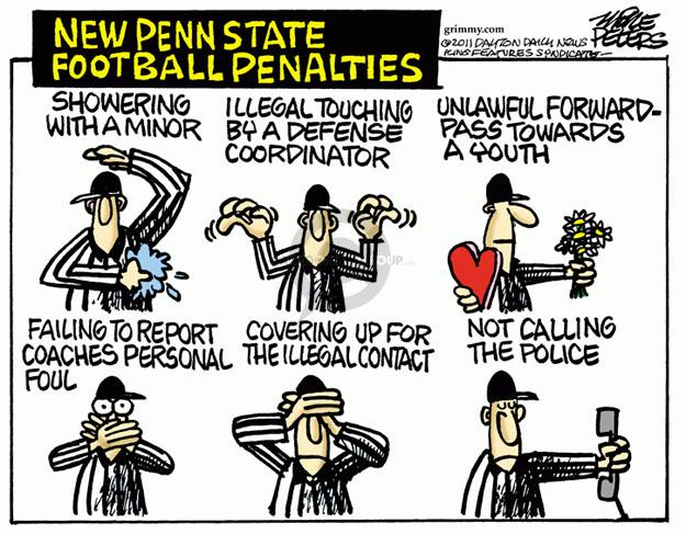 Mike Peters  Mike Peters' Editorial Cartoons 2011-11-11 football coach
