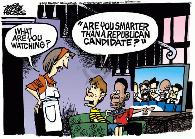 "What are you watching? ""Are You Smarter than a Republican Candidate?"""